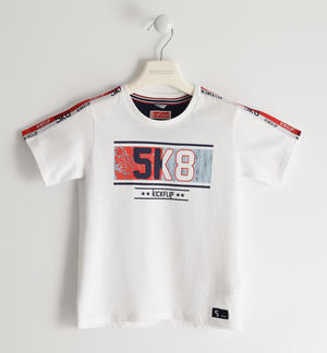 100% cotton jersey t-shirt WHITE