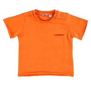 100% flamed cotton jersey t-shirt ORANGE