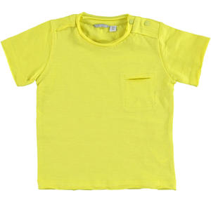 100% flamed cotton jersey t-shirt YELLOW
