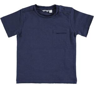 100% flamed cotton jersey t-shirt BLUE