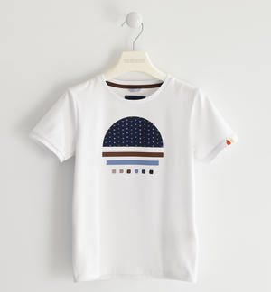 Stretch jersey T-shirt for casual looks WHITE