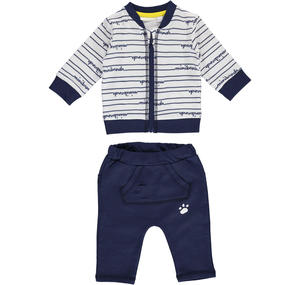 100% lightweight cotton baby tracksuit BLUE