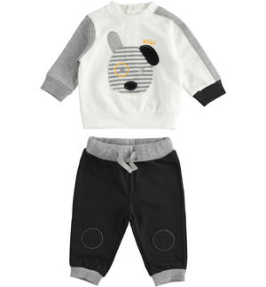 Jogging suit for newborn boy with dog