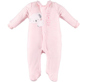 Baby boy romper with long sleeves and koala PINK
