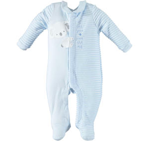 Baby boy romper with long sleeves and koala LIGHT BLUE