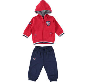 TWO PIECES JOGGING SUIT RED