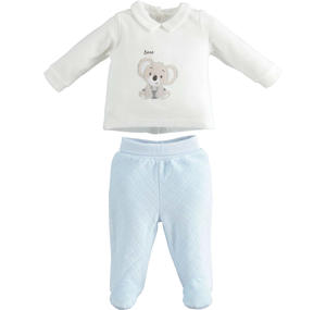 Soft chenille newborn baby rompers broken model LIGHT BLUE
