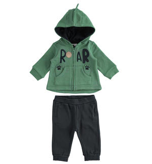 Cotton blend fabric newborn baby suit with comfortable trousers GREEN