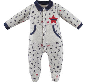 Sleepsuit with kangaroo pockets GREY
