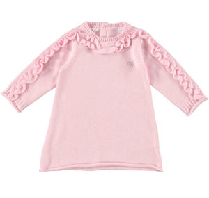 Vestitino in tricot con ruches ROSA