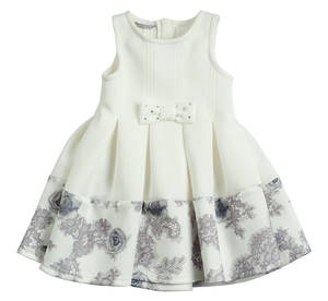 Sleeveless dress for girls with a dress enriched with SOFFI