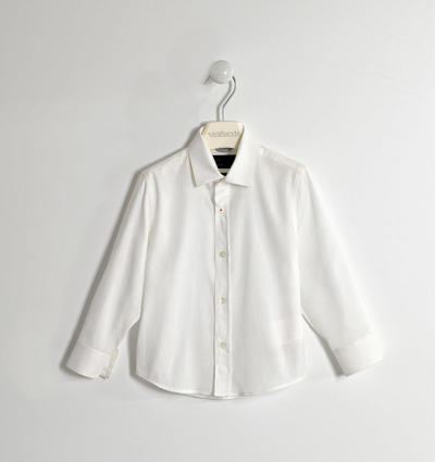 100% cotton shirt with micro jacquard WHITE