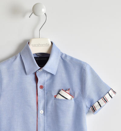 Elegant and comfortable 100% cotton Oxford shirt for boy BLUE