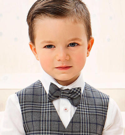 Smart checked bow tie BLUE