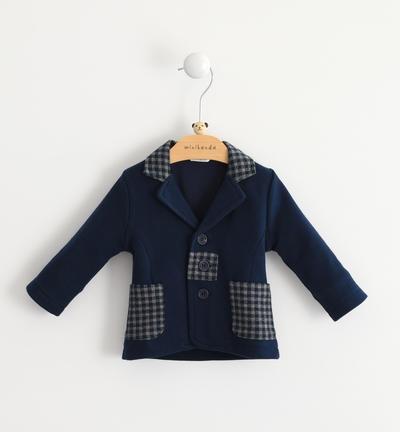Viscose blend coat with lapels