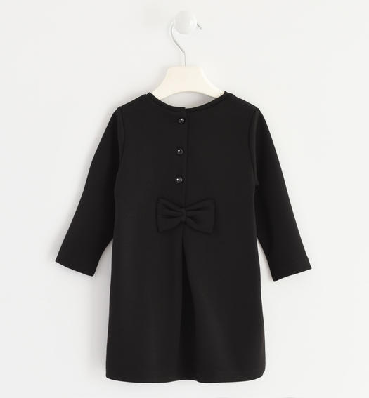 Dress made in Milano stitch for baby girls from 6 months to 7 years Sarabanda NERO-0658