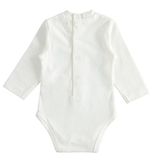 Bodysuit with teddy bears in stretch jersey for newborns from 0 to 24 months Minibanda PANNA-0112