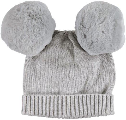 Caldo cappello modello cuffia con pon pom per neonata da 0 b80ab87dbac8