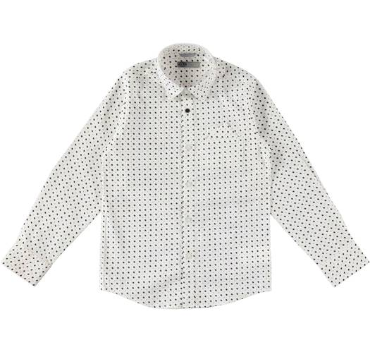 Sarabanda long-sleeved shirt with a geometric print  for boys aged 6 months - 16 years BIANCO-NERO-ROSSO-6J06