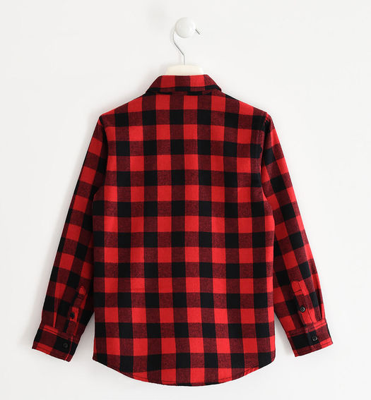 Long-sleeved check print shirt for boy from 6 to 16 years Sarabanda ROSSO-2253