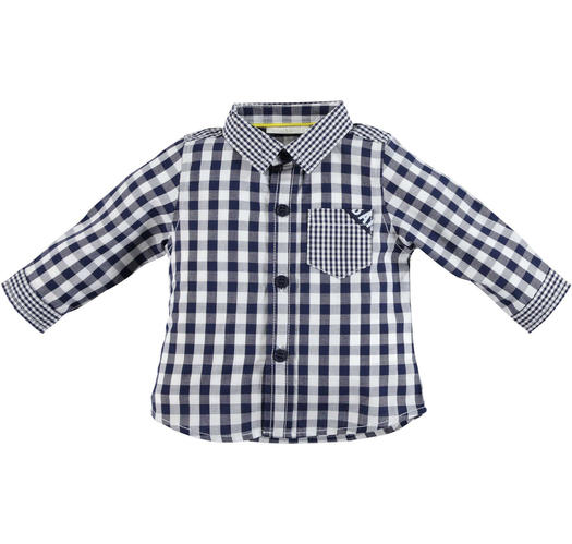 37e2367ea Minibanda 100% cotton checked shirt for baby boys from 0 to 24 ...