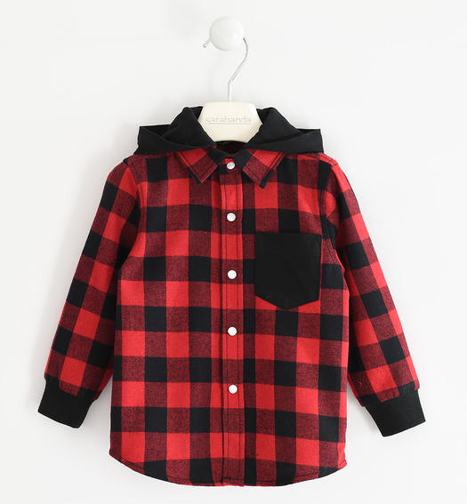 Check patterned shirt for boy for boy from 6 months to 7 years Sarabanda ROSSO-2253