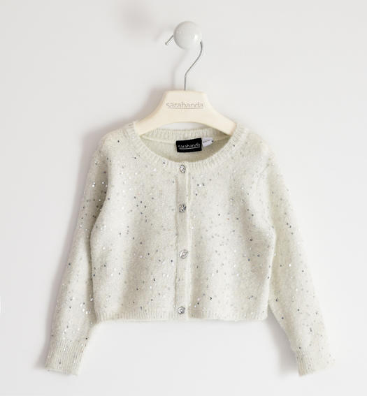 Polka dot tricot cardigan for girl from 6 months to 7 years Sarabanda PANNA-0112