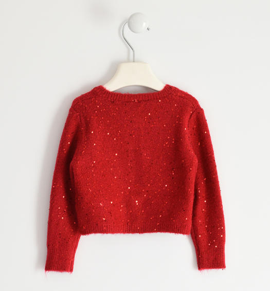 Polka dot tricot cardigan for girl from 6 months to 7 years Sarabanda ROSSO-2253