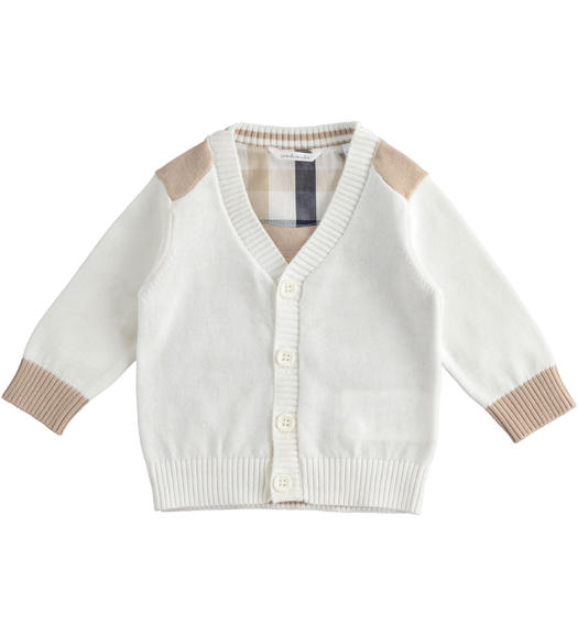 100% cotton baby cardigan for baby boy from 0 to 24 months Minibanda PANNA-0112