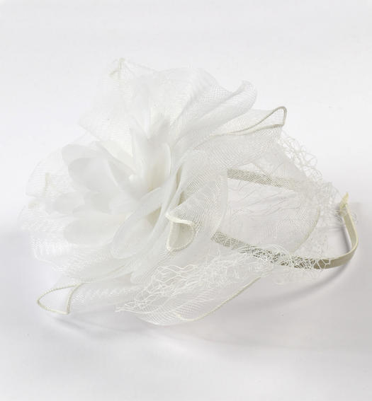 Headband with veil for girl from 6 to 16 years Sarabanda PANNA-0112