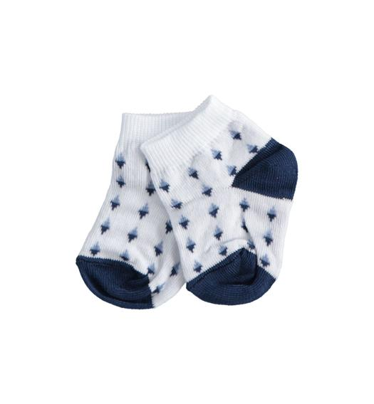 Comfortable cotton blend baby socks for baby boy from 0 to 24 months Minibanda BIANCO-0113