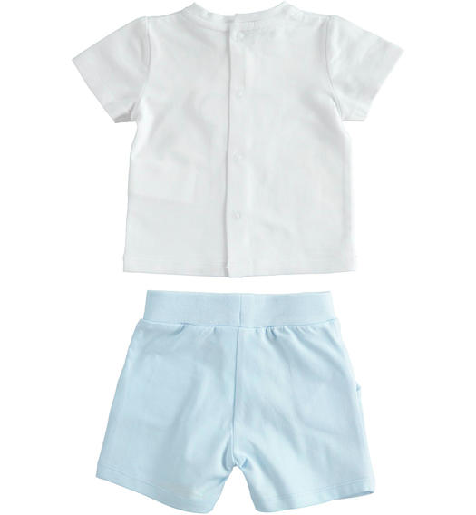Summer clinic two-piece soft cotton baby set for baby boy from 0 to 24 months Minibanda SKY-5818
