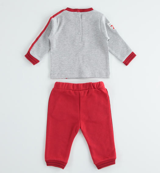 Baby warm cotton interlock set for newborn from 0 to 24 months Minibanda ROSSO-2253