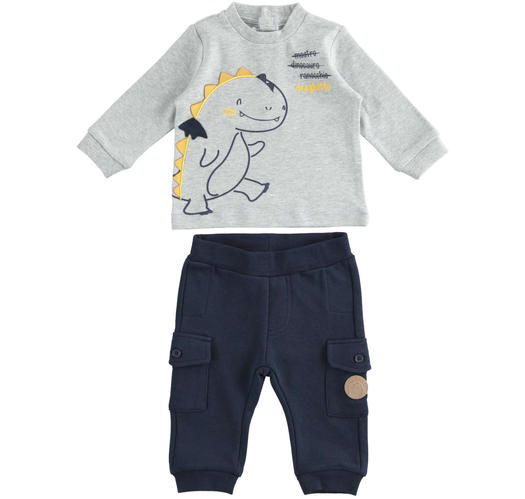 Baby set with comfortable cargo model trousers for newborn from 0 to 24 months Minibanda NAVY-3885
