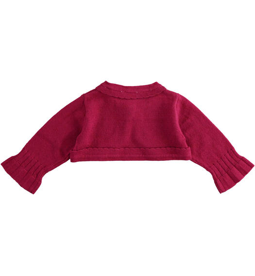 Shrug with scallop for newborn girl from 0 to 24 months Minibanda BORDEAUX-2654