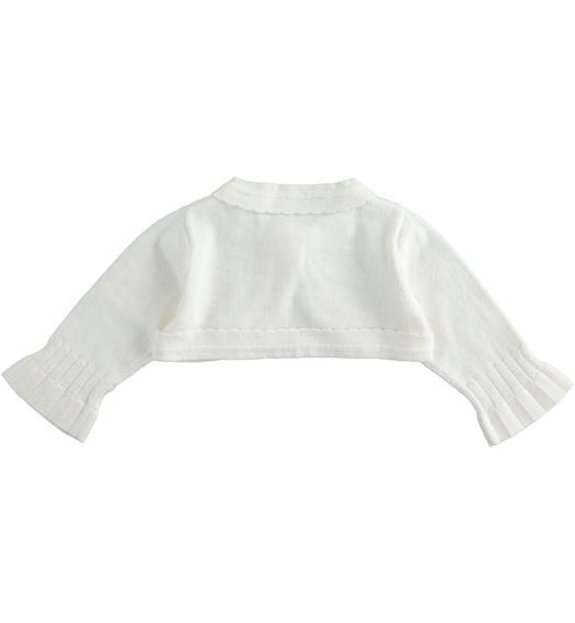 Shrug with scallop for newborn girl from 0 to 24 months Minibanda PANNA-0112
