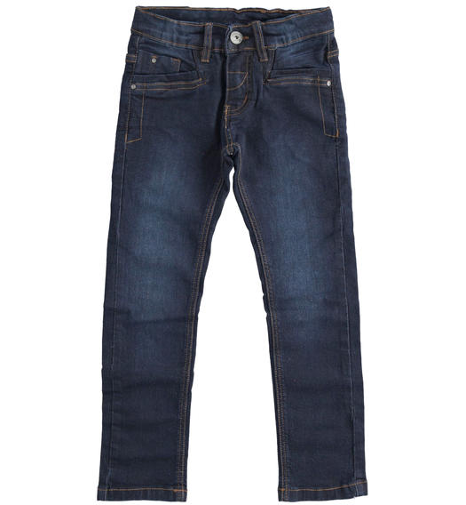 Slim fit denim with sandblasting for boy from 6 to 16 years Sarabanda BLU-7750