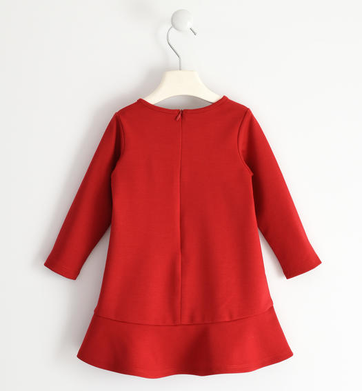 Elegant dress in Milano stitch for girl from 6 months to 7 years Sarabanda ROSSO-2253