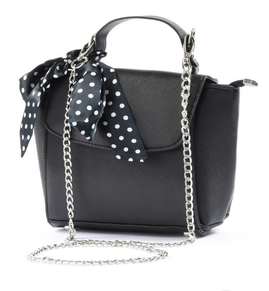 Elegant bag for girl in eco-leather from 6 to 16 years Sarabanda NERO-0658