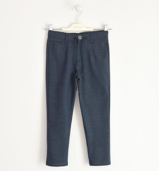 Elegant trousers with drawstring for boy from 6 to 16 years Sarabanda NAVY-3885