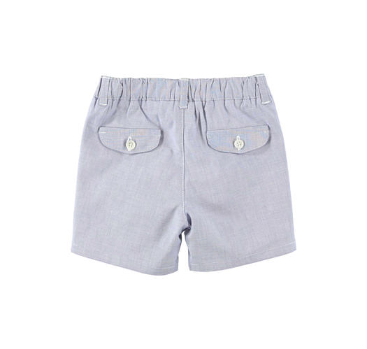 Elegant short Summer trousers in cotton for newborn from 0 to 24 months Minibanda ROYAL SCURO-3755