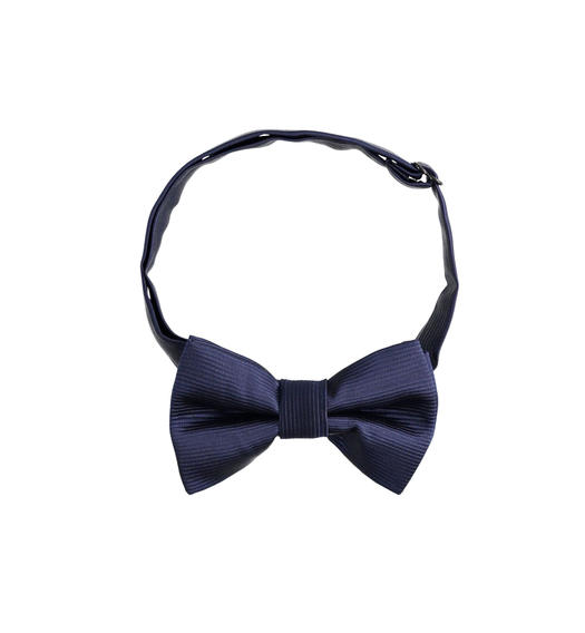 Elegant bow tie in shiny fabric for boy from 6 to 16 years Sarabanda NAVY-3885