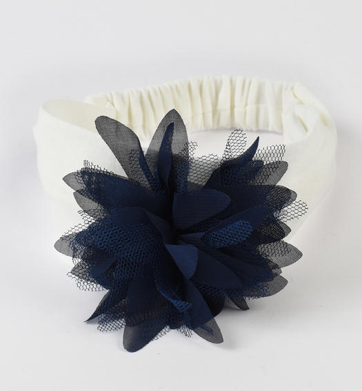 Elastic headband for baby girl from 0 to 24 months Minibanda NAVY-3854