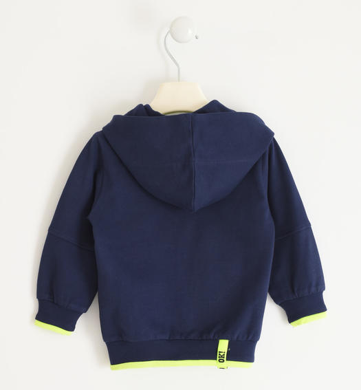 Sarabanda hooded sweatshirt with a number for boy from 6 months to 7 years NAVY-3854