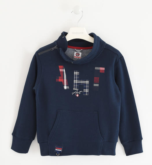 Sweatshirt with fantasy print, in combination with the key ring  for boys from 6 to 16 years Sarabanda NAVY-3885