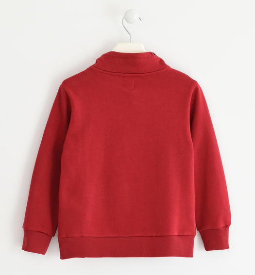 Sweatshirt with fantasy print, in combination with the key ring  for boys from 6 to 16 years Sarabanda ROSSO-2536