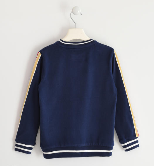Crewneck sweatshirt with rubber print for boys from 6 to 16 years Sarabanda NAVY-3854