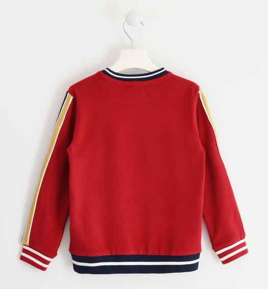 Crewneck sweatshirt with rubber print for boys from 6 to 16 years Sarabanda ROSSO-2536