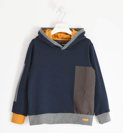 Winter hooded sweatshirt in jersey for boy from 6 to 16 years Sarabanda NAVY-3885
