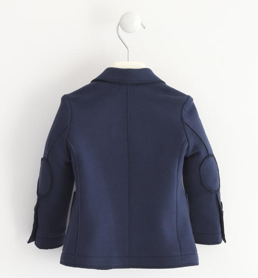 Cut Mesh jacket with patch pockets on the front for baby boys from 6 months to 7 years Sarabanda NAVY-3885